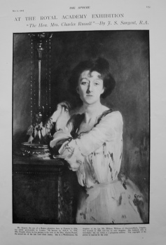"""At The Royal Academy - """"The Hon. Mrs. Charles Russell""""- By F.S. Sargent, R.A. 1901"""