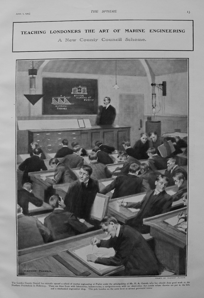 Teaching Londoners the Art of Marine Engineering : A New County Council Scheme. 1905
