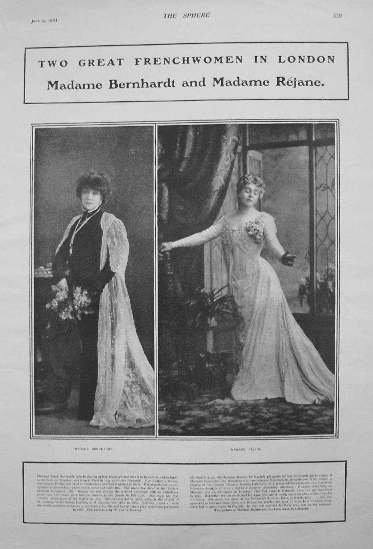 Madame Bernhardt and Madame Rejane. 1901