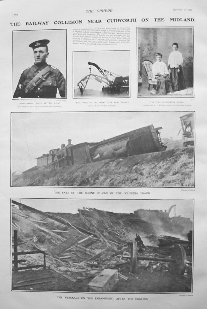 Railway Collision near Cudworth on the Midland. 1905