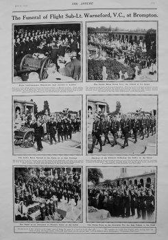 Funeral of Flight Sub-Lt. Warneford, V.C., at Brompton. 1915