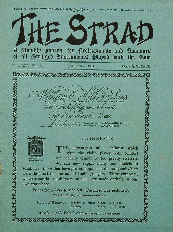 The Strad Magazine. 1951.