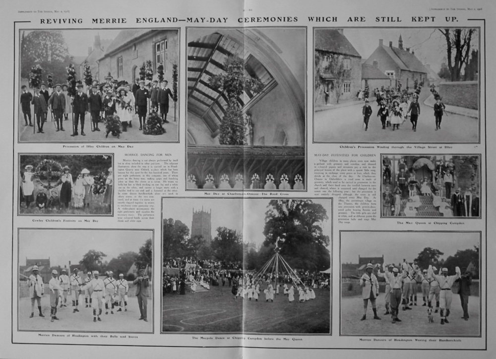 The Sphere, May 2nd, 1908.  (Supplement) : Reviving Merrie England : May-Day Ceremonies. 1908