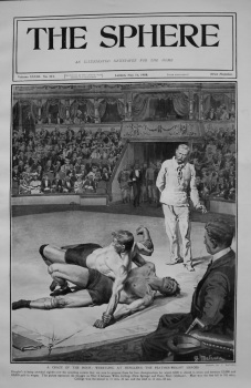 A Craze of the Hour : Wrestling at Hengler's - The Feather-Weight Heroes. 1908