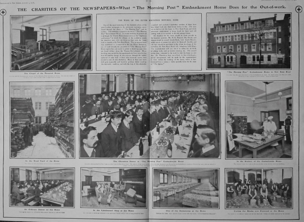 The Sphere, January 4th, 1908. (Supplement) : The Charities of the Newspapers.
