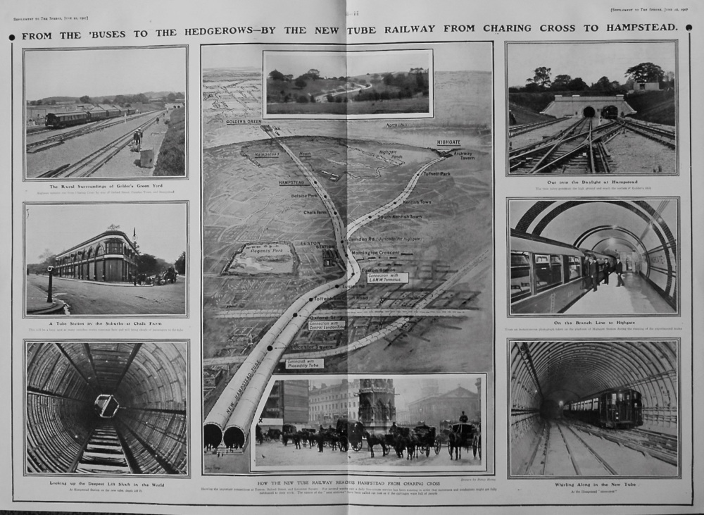 From Charing Cross To Hampstead : London's Latest Tube. 1907