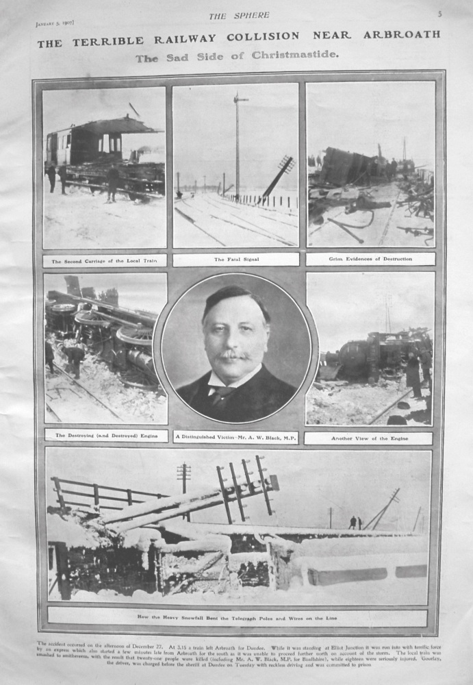 Terrible Railway Collision Near Arbroath. 1907