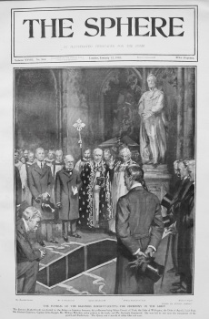 Funeral of the Baroness Burdett-Coutts - The Ceremony in the Abbey. 1907