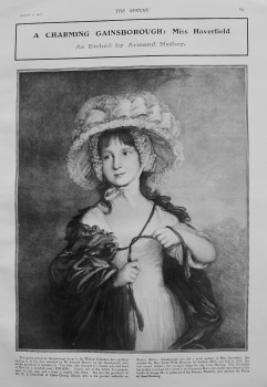 A Charming Gainsborough : Miss Haverfield, as Etched by Armand Mathey. 1907