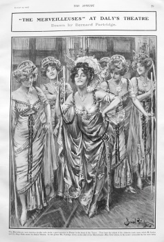 """The Merveilleuses"" at Daly's Theatre. 1907"