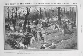 """The Fight in the Forest"" - A Striking Picture in the ""Hall of Glory"" at Tiflis. 1907"