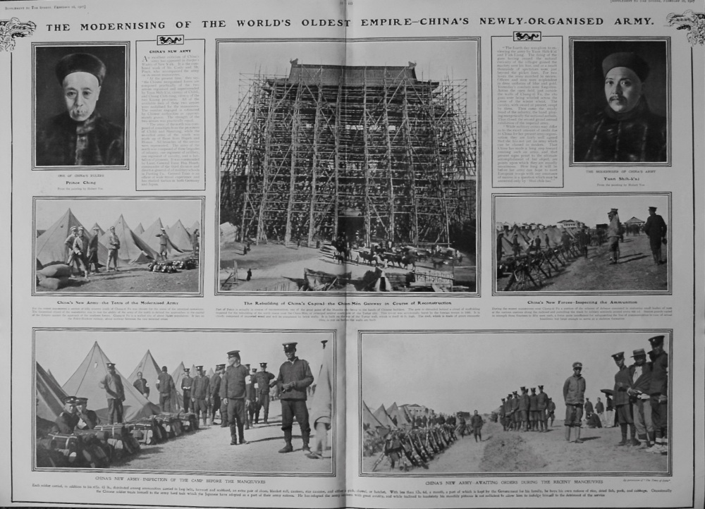 The Sphere, February 16th, 1907, (Supplement) : Modernising of the World's Oldest Empire : How China is being Transformed at the Present Moment by Wes