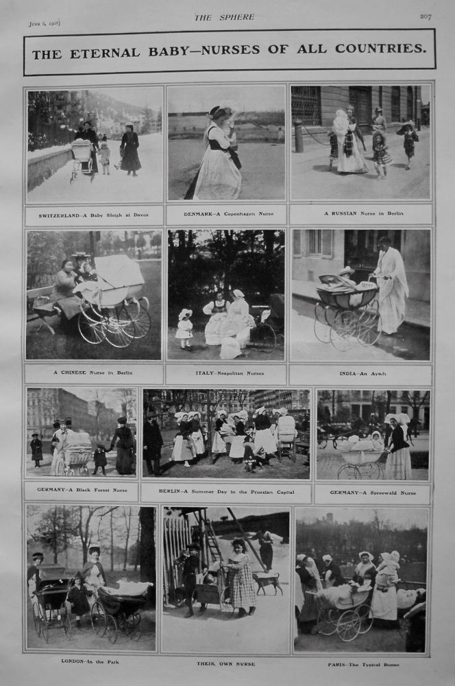 The Eternal Baby-Nurses of all Countries. 1908