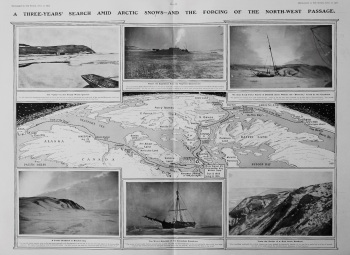 A Three-Years' Search Among Polar Snows : The Successful Renewal of a Tragic Quest told by Captain Roald Amundsen. 1907
