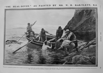 """The Seal-Diver"" as Painted by Mr. W. H. Bartlett. R.I. 1907"