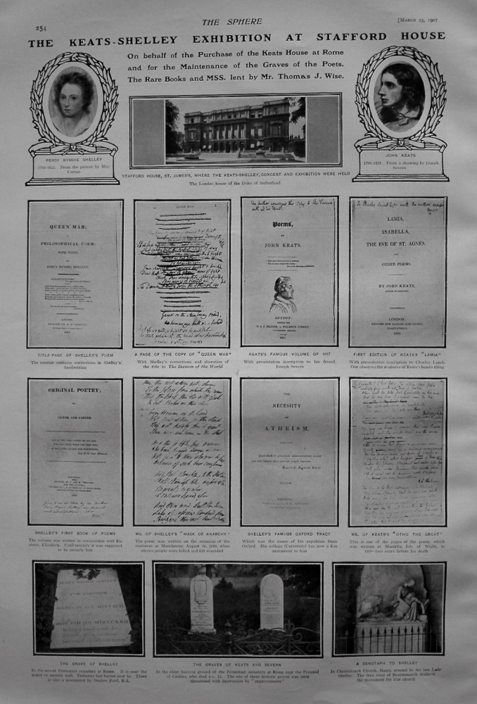The Keats-Shelley Exhibition at Stafford House 1907.
