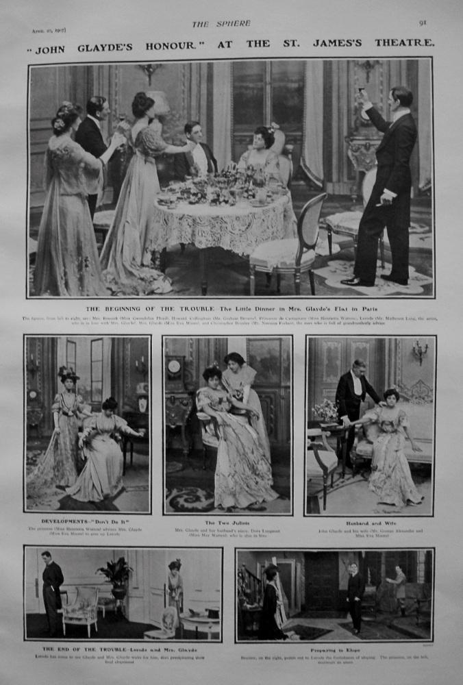 """John Glayde's Honour"" at the St. James's Theatre. 1907."