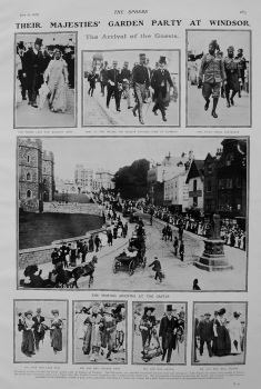 Their Majesties' Garden Party at Windsor. 1908