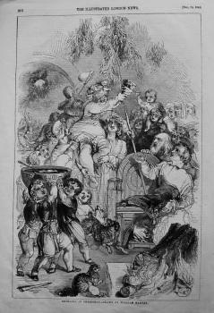 Bringing In Christmas.- Drawn by William Harvey. Engraved by G. Dalziel. 1845