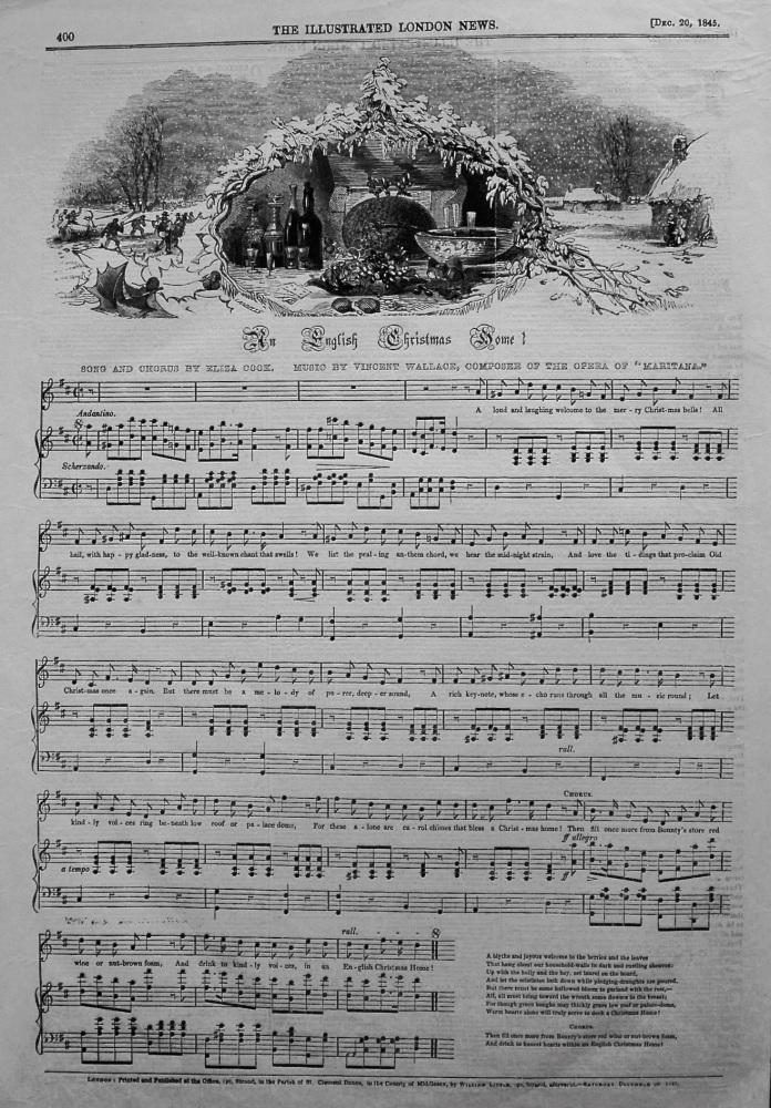 The English Christmas Home ! (Music) 1845.