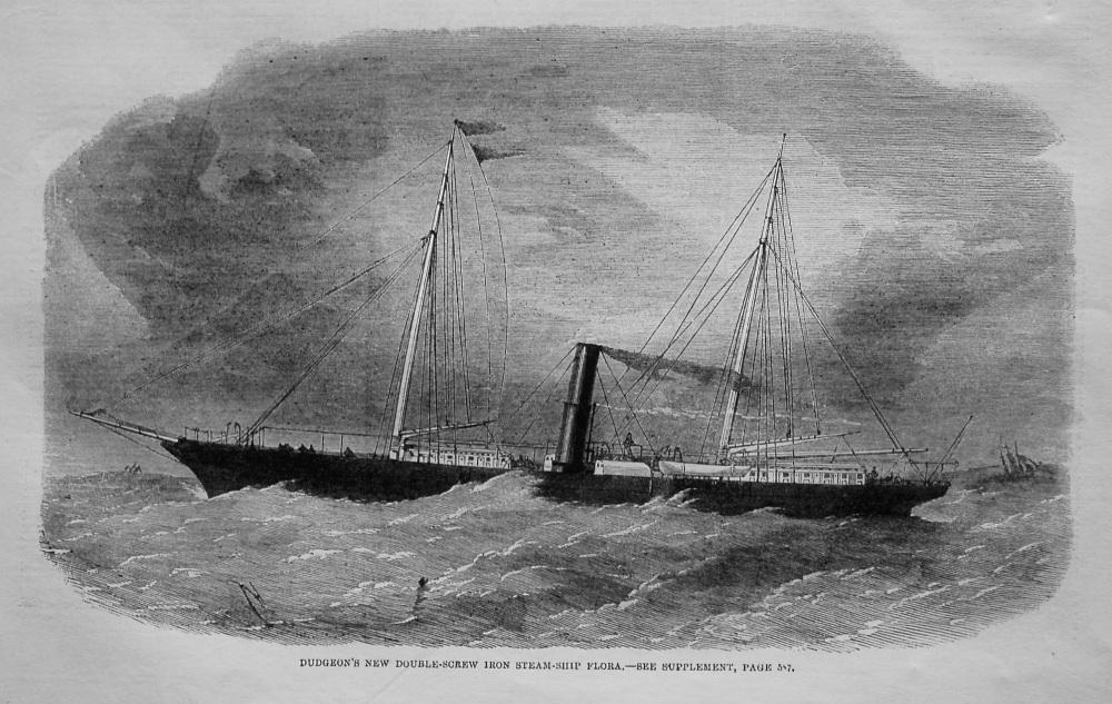 Dudgeon's New Double-Screw Iron Steam-Ship Flora. 1862