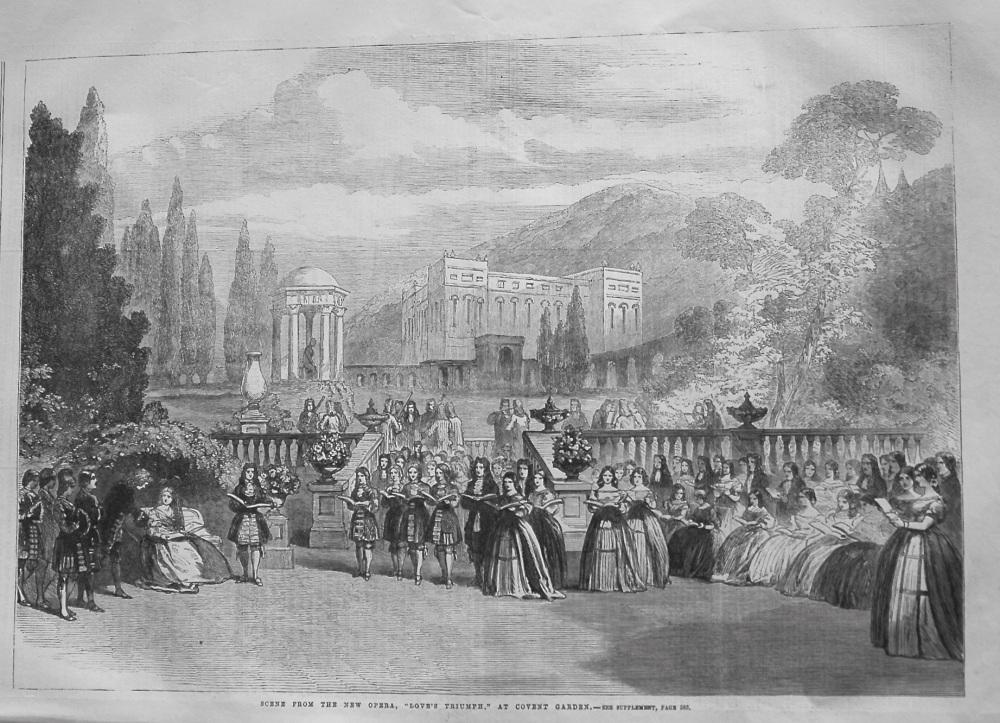 "Scene from the New Opera, ""Love's Triumph,"" at Covent Garden. 1862"