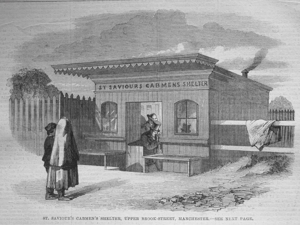 St. Saviour's Cabmen's Shelter, Upper Brook-Street, Manchester. 1862.