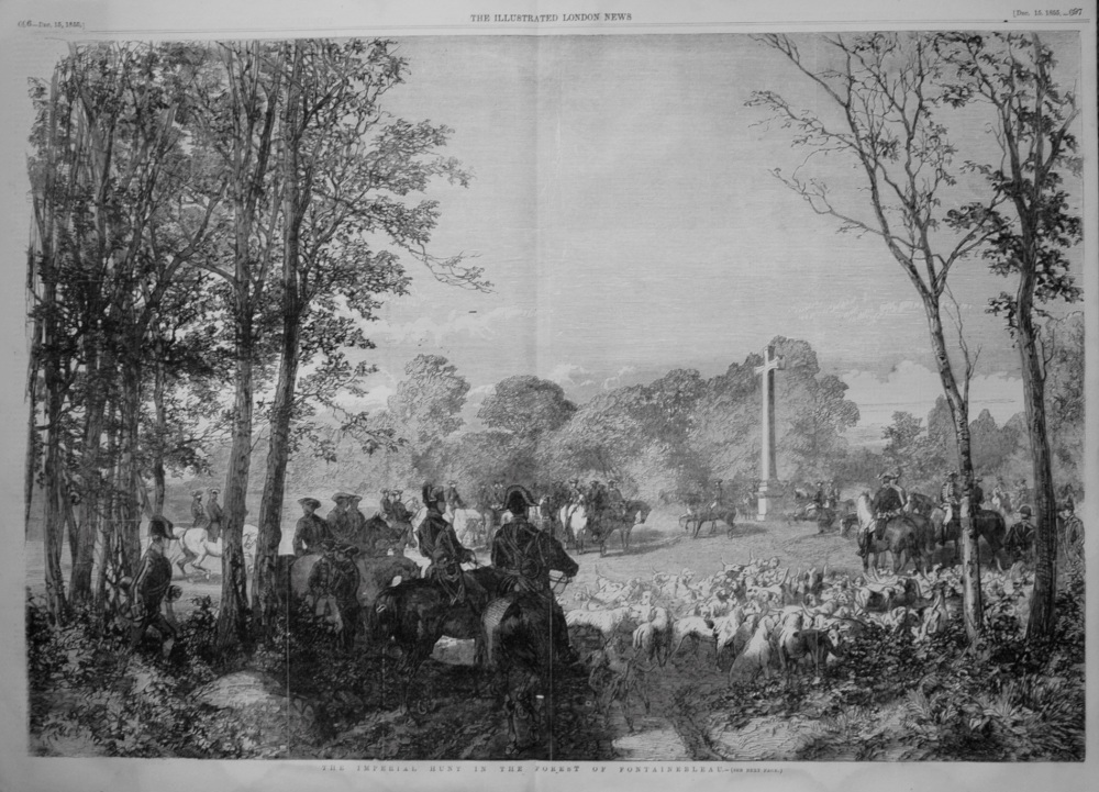 The Imperial Hunt in the Forest of Fontainebleau. 1855