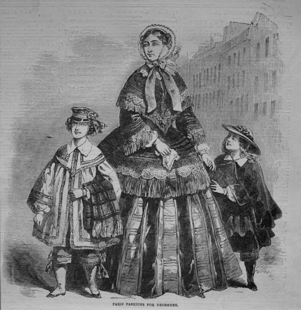 Paris Fashions for December. 1855