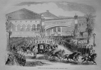 Arrival of the King of Sardinia at Paris. 1855