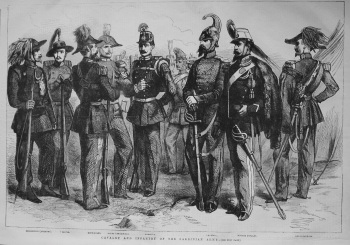 Cavalry and Infantry of the Sardinian Army. 1855