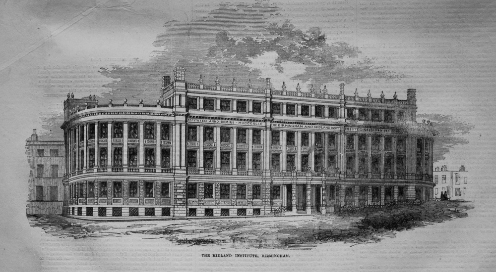 The Midland Institute, Birmingham. 1855