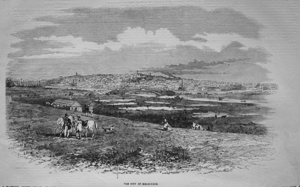 City of Melbourne. 1855