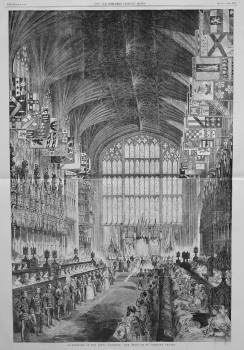 Celebration of the Royal Marriage : The Choir of St. George's Chapel. 1863