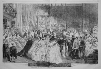 Celebration of the Royal Marriage : The Scene at the Altar of St. George's Chapel. 1863