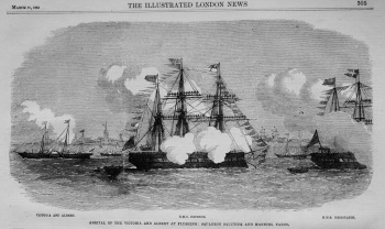 Arrival of the Royal Yacht at Flushing. 1863