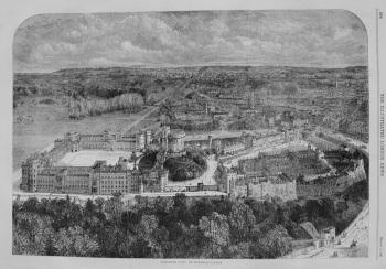 Birdseye View of Windsor Castle. 1863