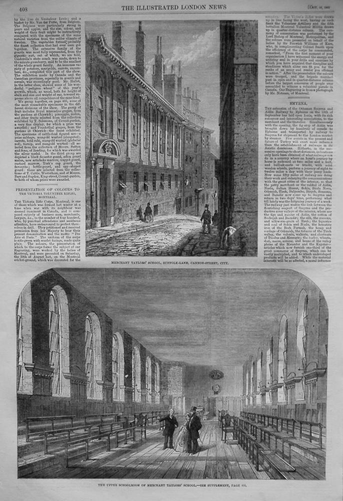Merchant Taylors' School, Suffolk-Lane, Cannon-Street, City. 1862