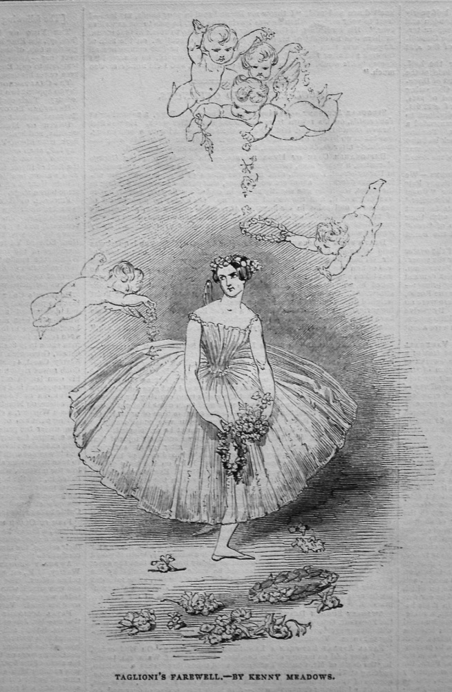 Taglioni's Farewell.- by Kenny Meadows. 1845