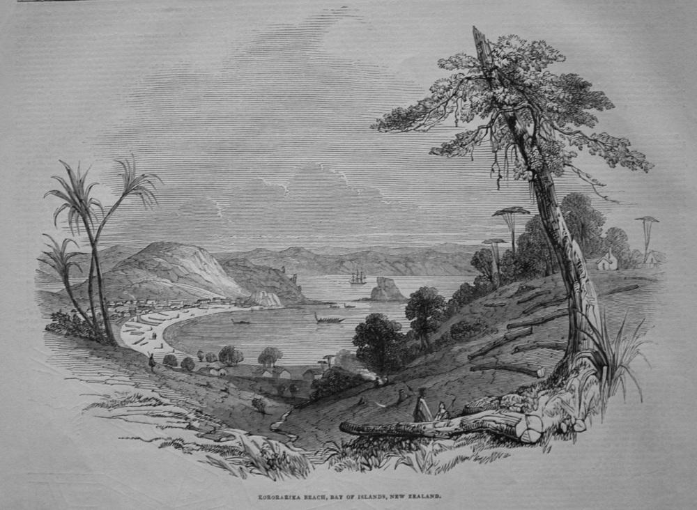 Kororarika Beach, Bay of Islands, New Zealand. 1845