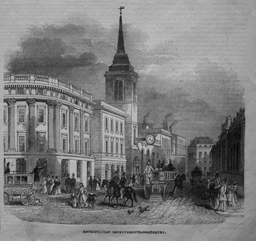 Metropolitan Improvements.- Lothbury. 1845