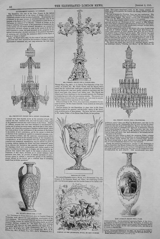 Government School of Design. 1854.