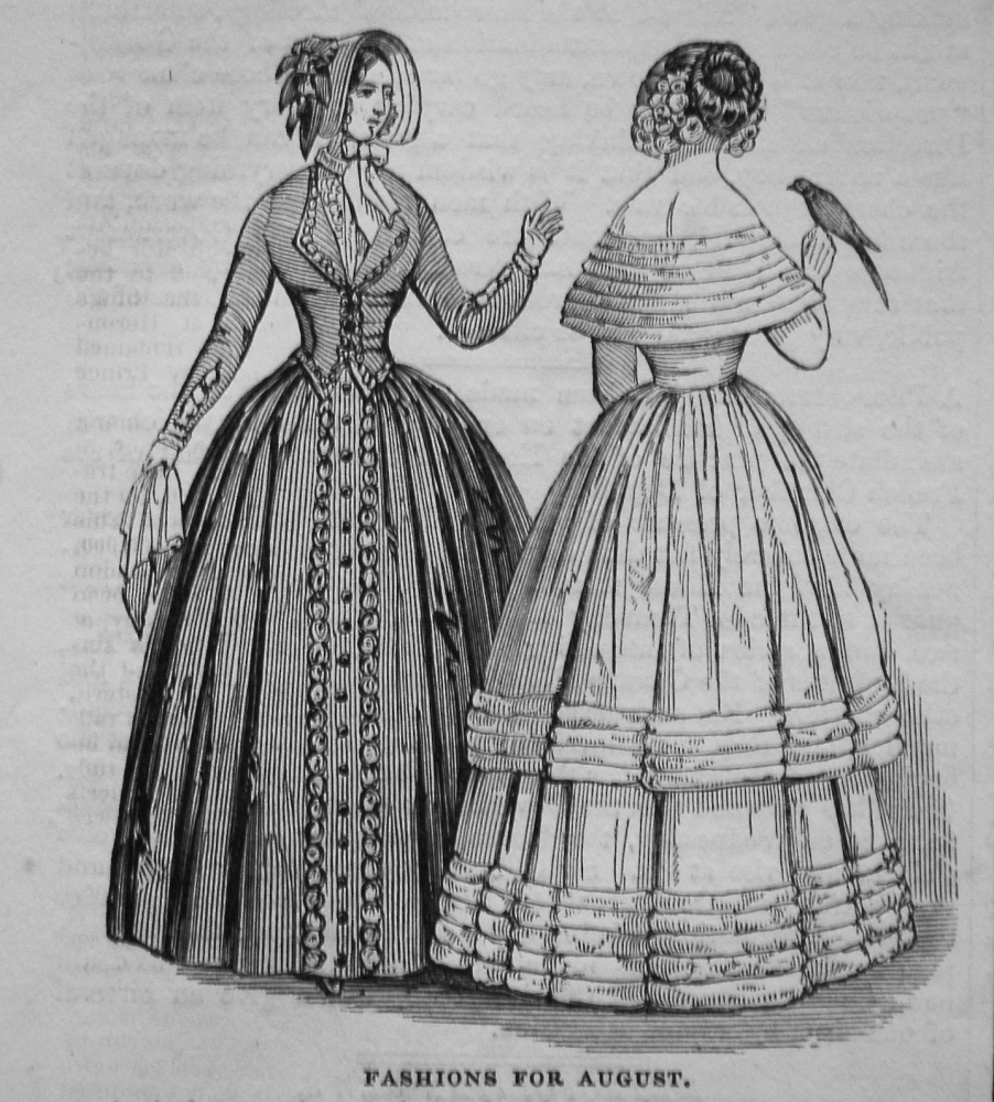 Fashions for August. 1845