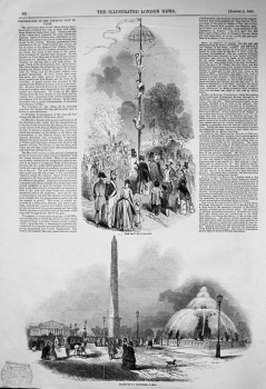 Celebration of the Fetes of July in Paris. 1845