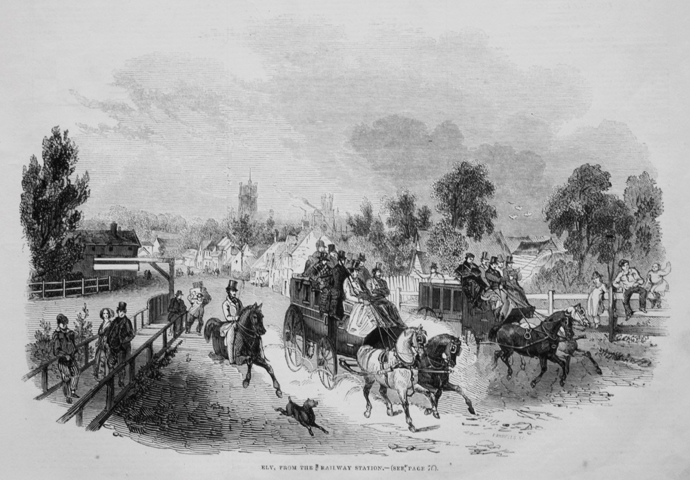 Ely, from the Railway Station. 1845