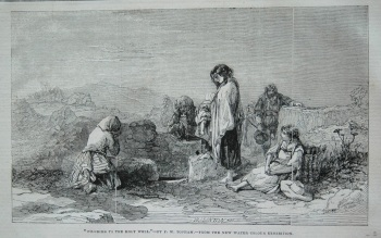 """Pilgrims to the Holy Well.""- by F. W. Top ham.- from the New Water Colour Exhibition. 1845"