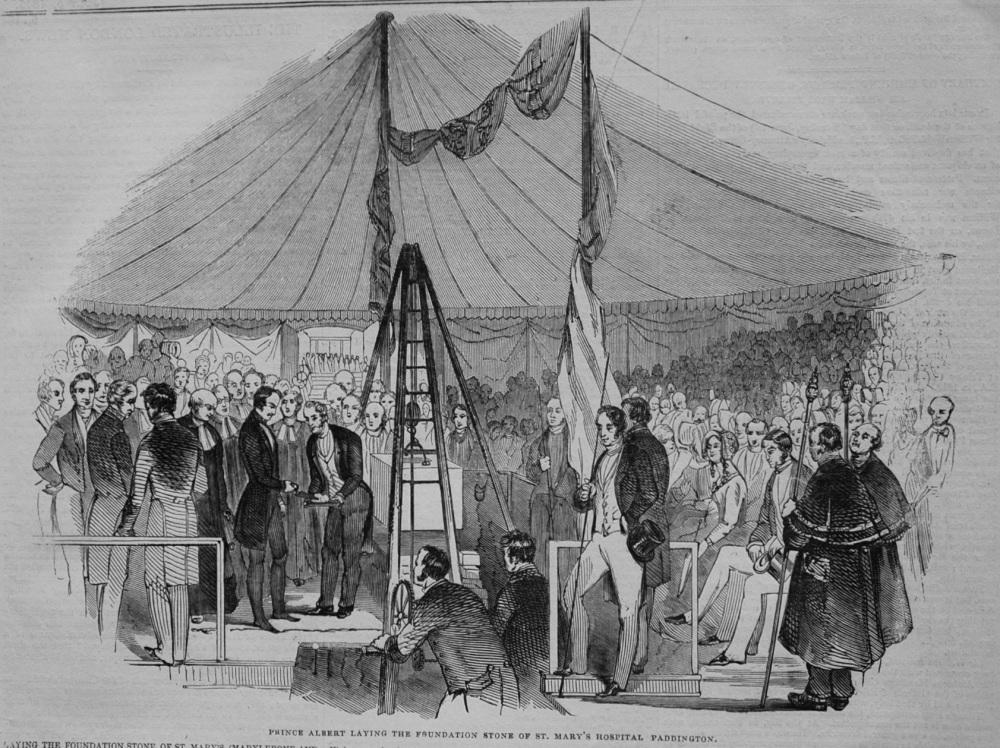 Prince Albert Laying the Foundation Stone of St. Mary's Hospital Paddington. 1845