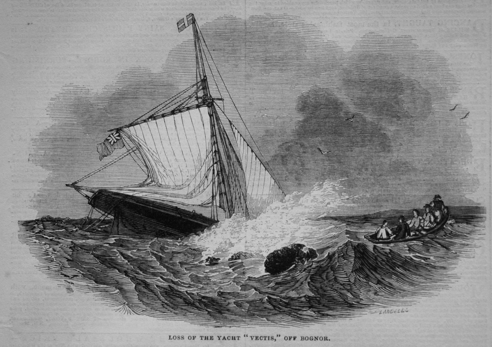"Loss of the Yacht ""Vectis,"" off Bognor. 1845"