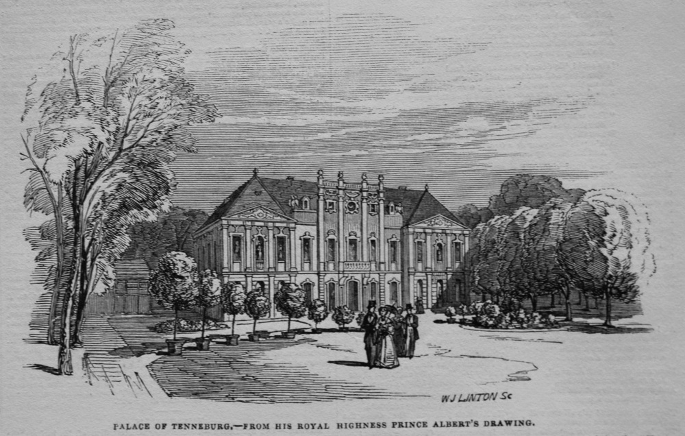 Palace of Tenneburg.- from His Royal Highness Prince Albert's Drawing. 1845