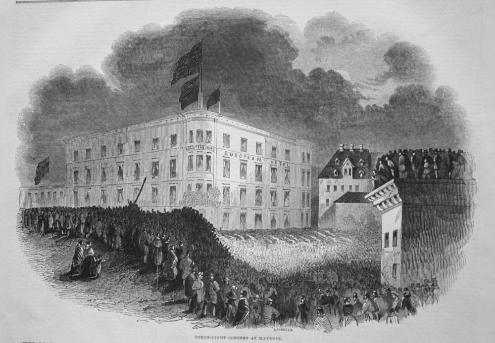 Torch-Light Concert at Mayence. 1845